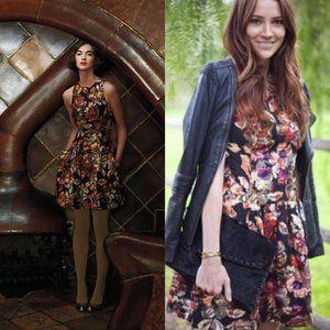 Anthropologie Adelita Brocade Dress